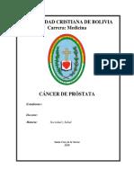 Monografía Cáncer de Próstata