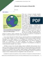 La Sustentabilidad Ambiental Un Reto Para El Desarrollo