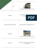 quizlet - rocks minerals weathering