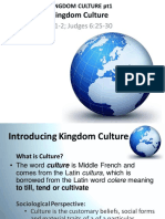 Introducing Kingdom Culture Pt1