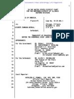 Vincente Zambada Intent to Enter Guilty Plea Full Transcript