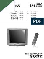 Sony KV 24FV12 Service ID11357