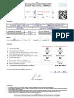 Modelo Solicitud Record Certificado