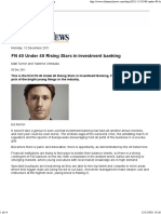 Financial News – FN 40 Under 40 Rising Stars in Investment Banking – 12 Dec 2011