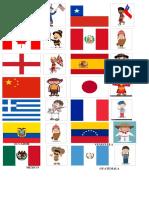 Banderas y Nacionalidades en Ingles