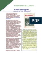 La Homosexualidad de Paulo VI