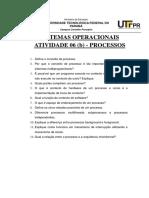 Lista Sistema Operacional - Processos