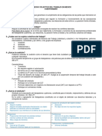 Cuestionario Derecho Colectivo Del Trabajo en Mexico