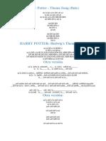 Notas Para Flauta Harry Potter