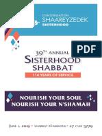 Sisterhood Shabbat 2019