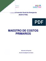 Guía de Costos No 13 - Catálogo de Costos Unitarios Primarios