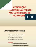 ATRIBUIÇÃO PROFISSIONAL ENGENHEIRO AGRONOMO