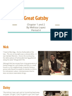 great gatsby chapter 1 and 2