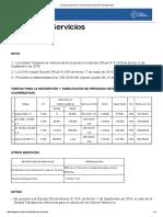 Tarifas Servicio Nacional de Contrataciones 17-05-2019
