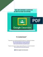 Guía para Implementar Classroom en Instituciones Educativas