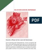 Oración y Ritual de Don Juan Del Destranque