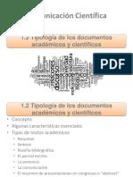 1.2 Tipología de los documentos académicos