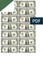 Dollar Bill Ones Sheet