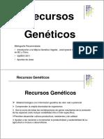 Clase12-RecursosGeneticos-2011