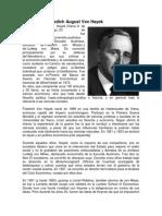 Biografía de Friedich August Von Hayek