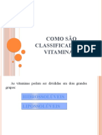Como são classificadas as vitaminas