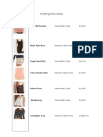 Clothing Instructions