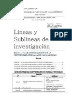 Linea de Investigacion - Las Americas - Derecho