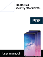Galaxy s10 User Guide Sm g970u1 Sm g973u1 Sm g975u1 p 9-0-022019 Final English