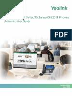 Yealink SIP-T2 Series T4 Series T5 Series CP920 IP Phones Administrator Guide V84 11