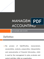 Chapter 1 Nature of Management Accounting MA vs. FA Macaraeg Marcelino
