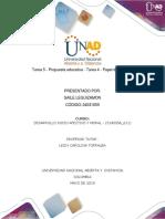 Tarea 5 - Propuesta Educativa- Desarrollo Afectivo Y Moral