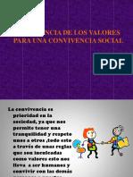 Importancia Valorores en la convivencia social