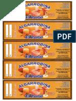Etiqueta Algarrobina El Panal