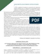 Prescripción Adquisitiva de Dominio Ante Notario