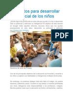 Elementos Para Desarrollar El Potencial de Los Niños