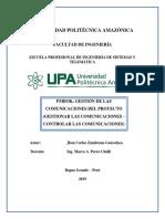 Pmbok - Gestión de Las Comunicaciones Del Proyecto (Gestionar Las Comunicaciones – Controlar Las Comunicaciones)