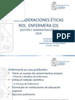 Consideraciones éticas - Rol Enfermera