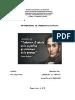 Informe Final de Catedra Bolivariana