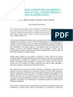 La Psicología Comunitaria en América Latina