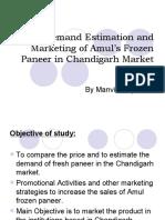 Demand Estimation of Frozen Paneer