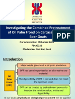 Investigating the Combined Physical and Biological Pretreatment of Oil Palm  Frond on Carcass Characteristic and Meat Yield of Goats