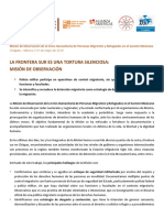 MODH - La Frontera Sur Es Una Tortura Silenciosa - 31 05 2019
