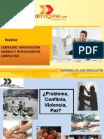 Liderazgo Negociacion Manejo y Resolucion de Conflicto