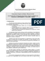 Plan de Estudios de Profesorado de Folclore y Tango (Resolución 222 - Año 2010)