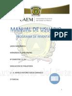 Manual Del Programa de Inventarios
