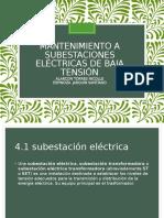 Unidad 4 Mantenimiento a Subestaciones Eléctricas de Baja Tensión