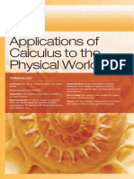 Chp. 6 Appl of Calculus to Physical World