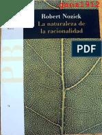 NOZICK, ROBERT - La Naturaleza de La Racionalidad [Por Ganz1912]
