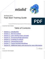 Altair SimSolid 2019_Fast Start Training Guide