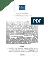 Acta de Conciliación.civil